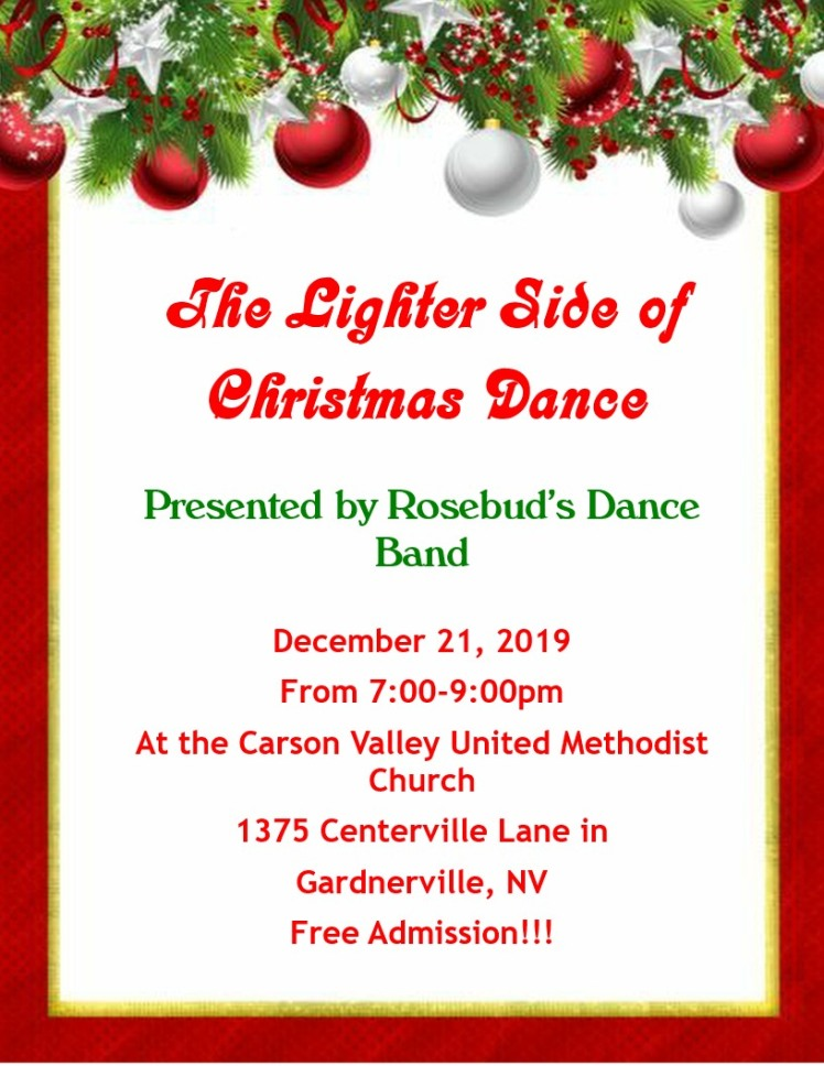 Christmas Dance Flyer Rosebud 2019